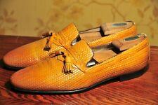 Sutor Mantellassi Braided Honey Tassel Loafers UK9.5/US10.5 Zilli / Testoni