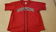 Mens Majestic Detroit Red Wings Jersey Shirt 2XL XXL Red Athletic