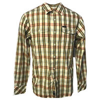 Rocawear Men's Linen Blend Vanilla Checked L/S Woven Shirt (Retail $50)