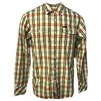 Rocawear Men's Linen Blend Vanilla Checked L/S Woven Shirt (Retail $50)