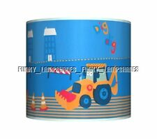 Digger Dig Ceiling Lampshade Boys Bedroom Lamp Shade Matches Duvet