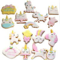 8pcs/set Unicorn Cutter Mold For Sugarcraft Cookie Cutting Cake Decoration FT