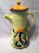 Vintage Retro Arnel's Mushroom Lidded Pitcher Coffee Tea Pot 1970's Figural
