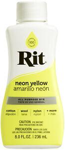 Rit Dye Liquid 8oz-Neon Yellow
