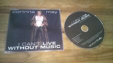 CD Pop Corinna May - I Cant Live Without Music (5 Song) MCD BMG  JUPITER sc