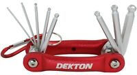 Folding Hex Key Dekton 8PC Set Allen Alan Garage Builders Home Allan Tool