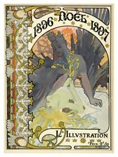 art nouveau 1896 Alphonse Mucha L'Illustration Xmas cover fine art print 24x32
