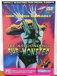 The Astounding She-Monster DVD (PAL, 2001) VGC, RARE, FREE POST