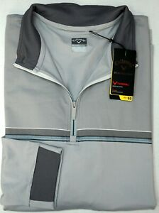 NWT $100 Callaway 1/4 Zip Grey Sweater Weather Series Mens Gray Thermal UPF 50