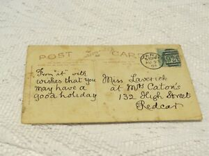 POSTAL HISTORY 1904 YARM CANCEL WITH 926 DUPLEX ON POSTCARD (FRONT POOR COND)