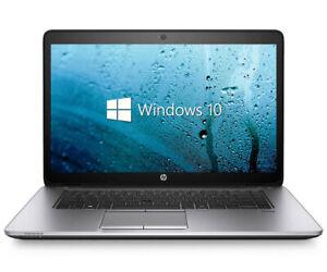 "HP EliteBook 850 G1 Laptop 15.6"" i5-4200U 8GB RAM 120GB SSD Win 10 Touch Screen"