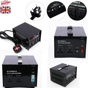 200/500/1000/2000W/3000 UK-US US-UK Step Up/Down Voltage Converter Transformer