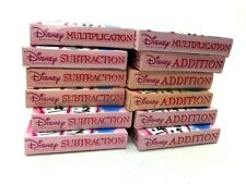Disney Princess Lot of 12 Teaching Add Subtract Multiply Learning Flash Cards