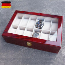 Holz Uhrenbox Uhrenkoffer für 12 Uhren Uhrenkasten Uhrenschatulle Uhrentruhe