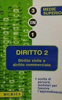 DIRITTO 2 DIRITTO CIVILE E COMMERCIALE 3 IN 1 MURSIA