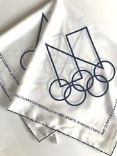 1980 Summer Olympics White and Blue Scarf USSR Soviet Union Russia Moscow