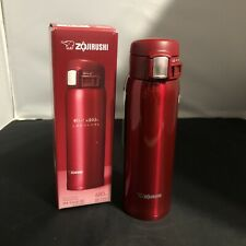 Zojirushi Stainless Mug NEW 480 ML SM-SD48-RC 16 Oz Clear Red