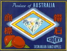 Tasmanian Apple Labels Vintage Art Australian Fruit Case Wall Poster set (12)-E