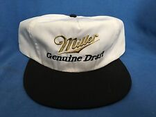 Vintage MILLER GENUINE DRAFT BEER Adjustable Cap MGD Delivery Uniform Hat Brew
