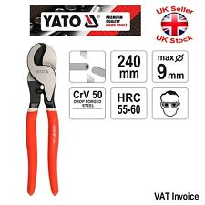 "Yato Professional Heavy Duty Cable Wire Cutter Size 240 mm - 10"" YT-1969"