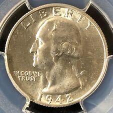 1942-S 25C Washington Quarter Dollar PCGS UNC Details      27308214
