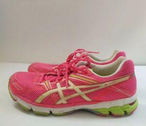 ASICS GT-1000 Running Shoes T2L6N Pink White Yellow 42 Women Sz 11