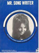 """SUNDAY SHARPE-MR. SONG WRITER"" PIANO/VOCAL/CHORDS SHEET MUSIC-1974-RARE!!"