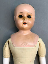 "Antique 21"" Minerva German Lady Doll - for Parts or Repair - Germany Tin"
