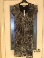 Ladies Clothes Size 10 M&S Per Una Black White Dress Party! New With Tags