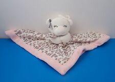 Carters Pink Teddy Bear Jaguar Cheetah Print Lovey Baby Security Girls Blanket