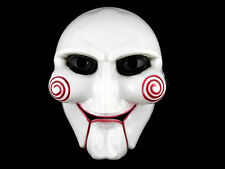 Unisex Saw Puppet Mask Horror Scary For Halloween Cosplay Costume Clown Doll Fun