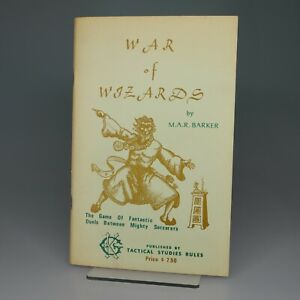 WAR OF WIZARDS - TSR 1975 M.A.R. BARKER PETAL THRONE - P - RULE BOOK ONLY