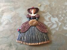 Vintage Christmas Ornament Woman Victorian Preowned