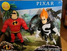 The Incredibles Nemesis Pack Mr Incredible & Syndrome Action Figure Set Disney