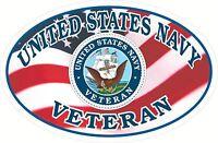 USA Flag  NAVY  Veteran Window Decal Bumper Sticker United States