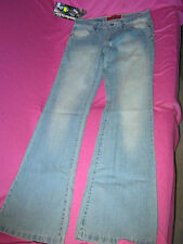 ladies boot leg jeans NWT faded blue by comfortable size 28inch waist