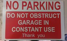 ALLUMINIO NO PARKING non ostacolino garage in costante utilizzo segno 300x200mm