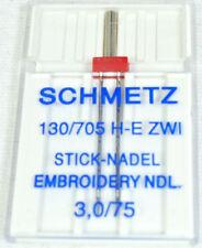 Schmetz Sewing Machine Twin Embroidery Needle Size 75, ZE-75B