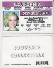 fantastic Reese Witherspoon fun id card / California Driver's drivers license
