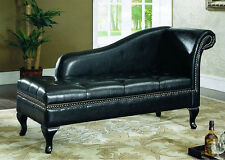 Faux Leather Living Room Contemporary Chaises Longues