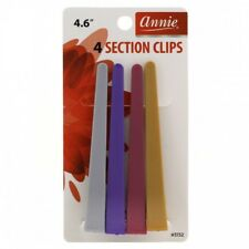 "ANNIE 4 PCS PLASTIC SECTION CLIP 4.6"" #3132 ASSORTED COLOR"