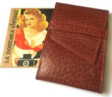 FRENCH 1950s PHOTO HOLDER WALLET~ LUXURIOUS LEATHER ~20 SLOTS~MADE IN FRANCE~NEW