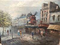 Original Signed Caroline Burnett Moulin Rouge Oil Painting