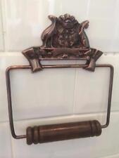 Vintage Australien cuivre style antique cuivre Loo Toilette Support de rouleau