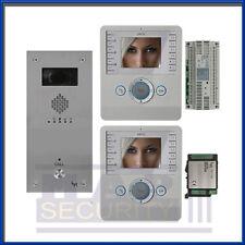BPT 1 VIE Citofono Porta Sistema di ingresso - 2 Monitor e pannello di acciaio spazzolato! - UK