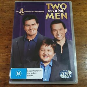 Two and a Half Men DVD Complete Fourth Season 4 R4 LIKE NEW FREE POST