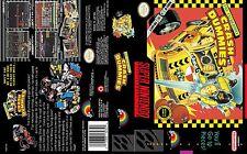 Crash Dummies Replacement SNES Box Art Case Insert Cover Scan Repro Print