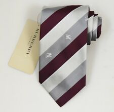 "NEW Burberry BROWN Stripes Mans 100% Silk Tie Authentic Italy Made 3.5"" 035049"