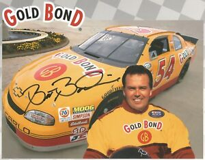 Brett Bodine Autographed 8 1/2x11 Busch Series Postcard L@@K NICE