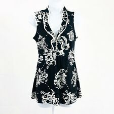 Maurices Women's Floral Print Sleeveless Blouse Top Size Small